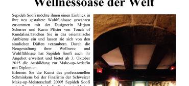 10 Jahre Setareh in Rapperswil: Tag der offenen Tür am 12. September 2015